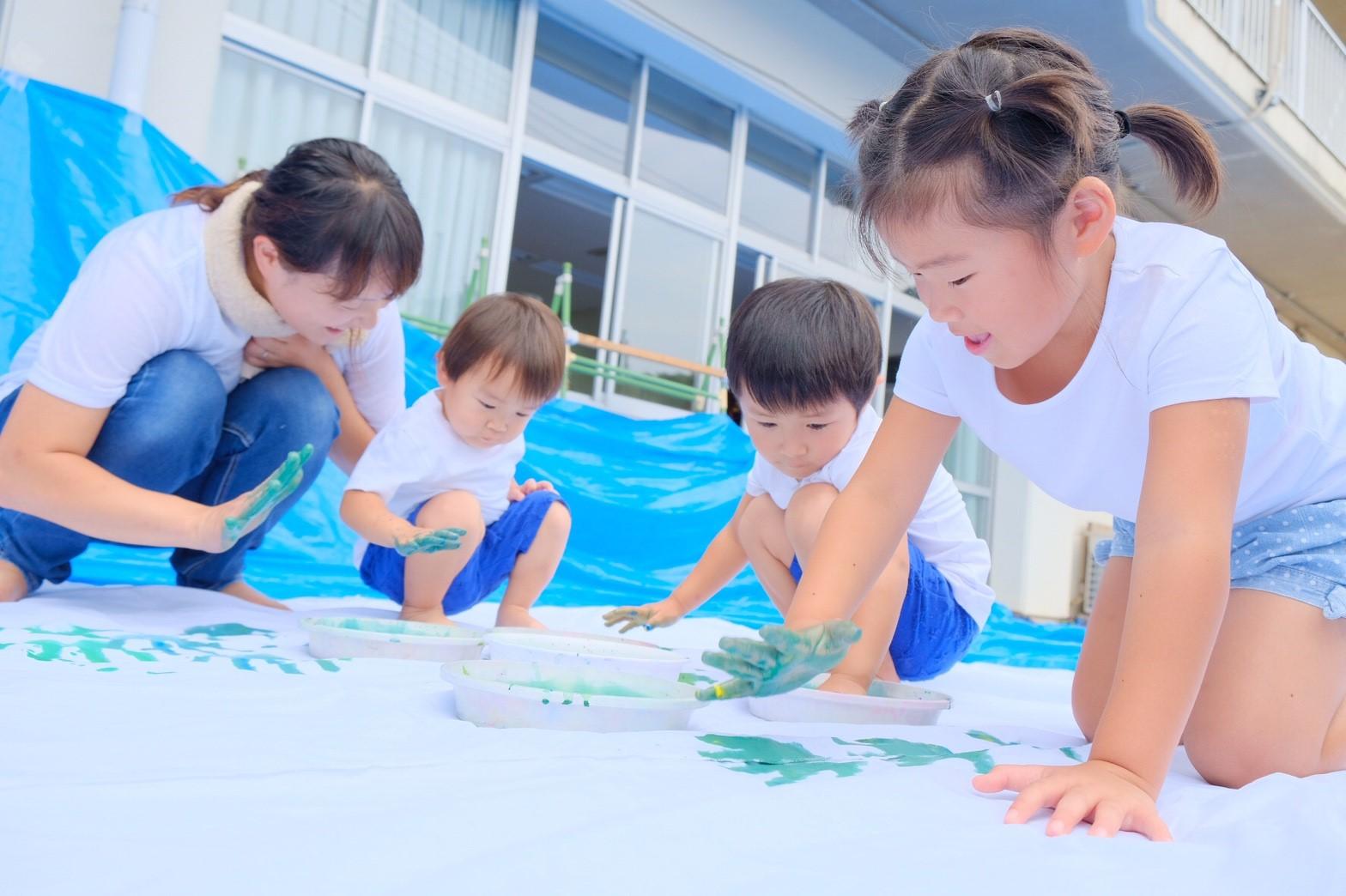 福島県川俣町子育てサポートプロジェクト第1回目 アートの力で親子に笑顔を!