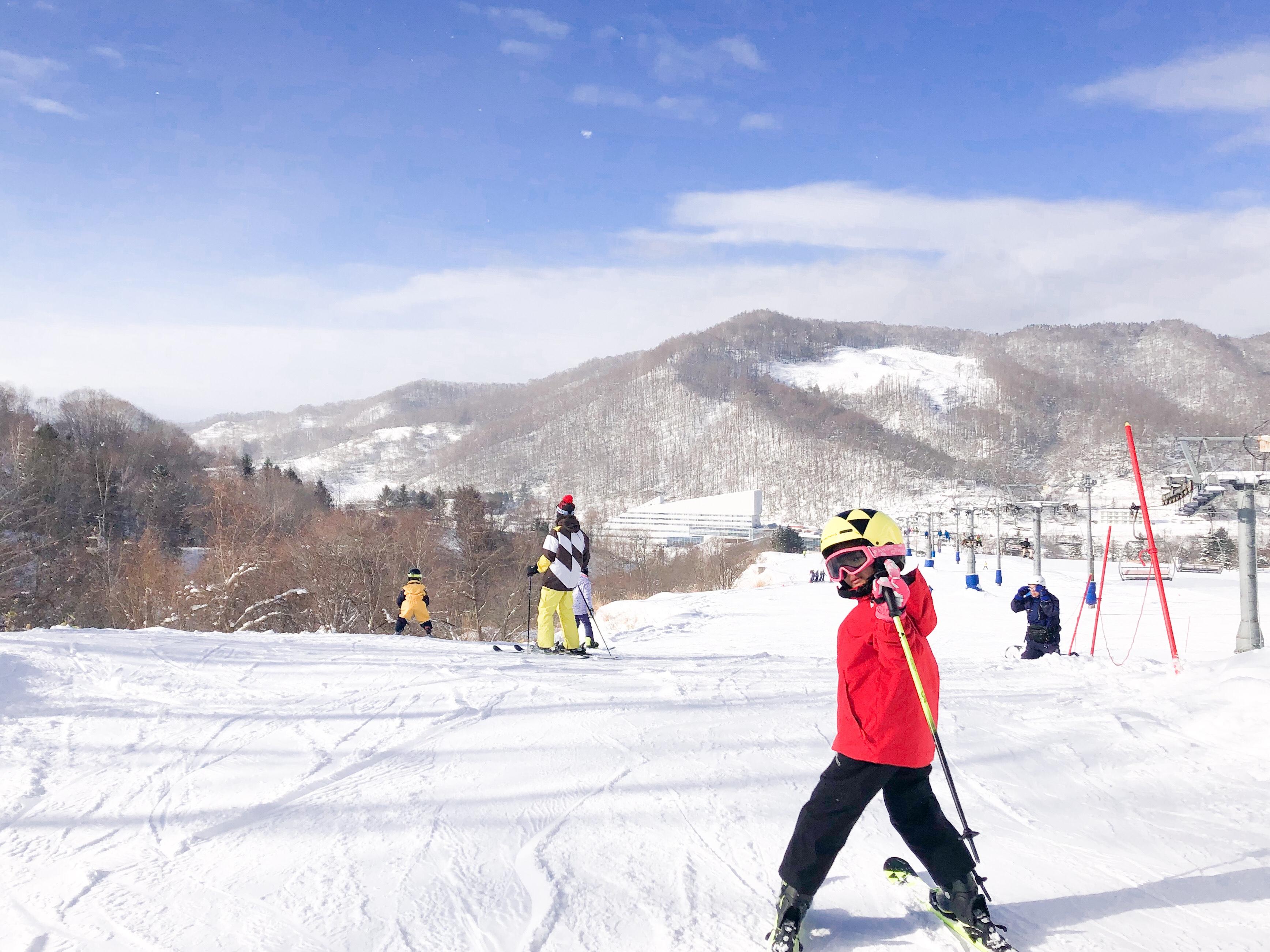 【小2&小1】初スキーは北海道夕張マウントレースイ【ゲレンデデビュー】